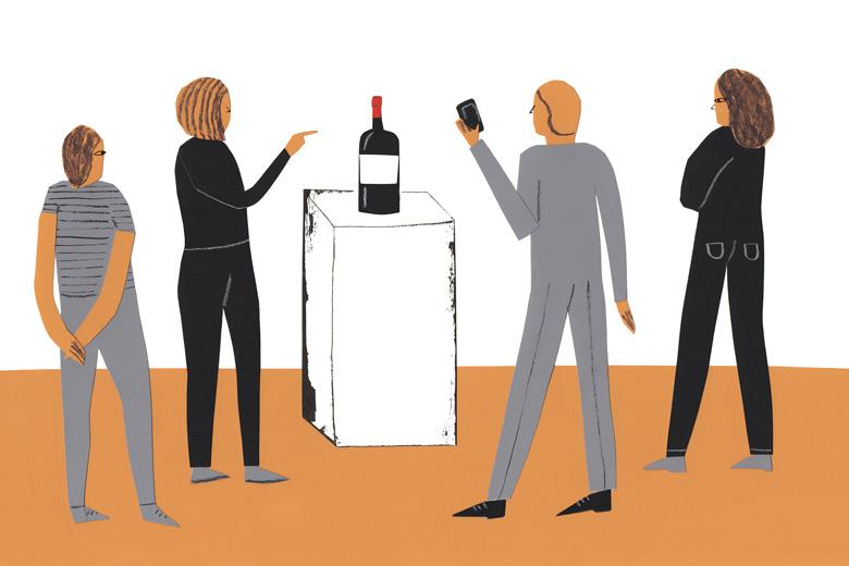 wine collecting art world illustration
